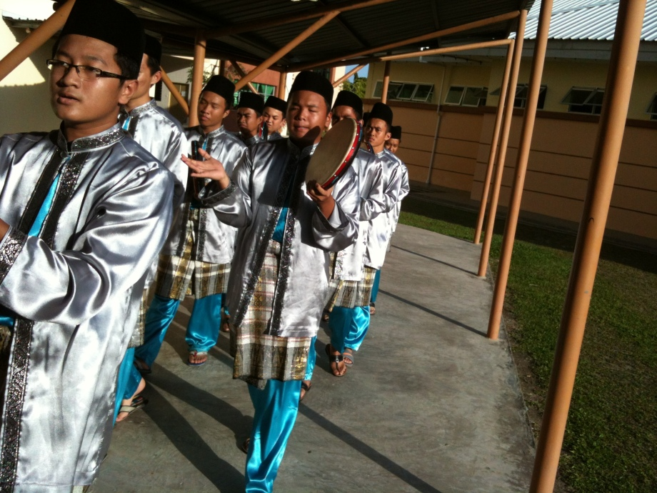 The kompang troupe greeted our arrival
